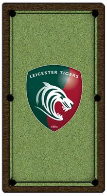 Leicester Tigers Pool Table Cloth - Design 2 - 7ft