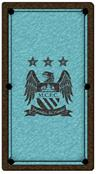 Manchester City Pool Table Cloth - Design 2 - 6ft