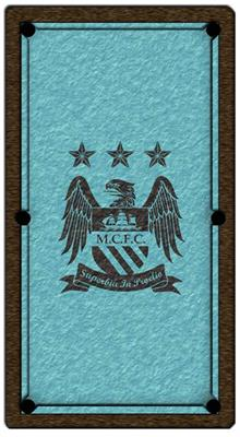 Manchester City Pool Table Cloth - Design 2 - 8ft English