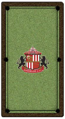 Sunderland Pool Table Cloth - Design 2 - 8ft American
