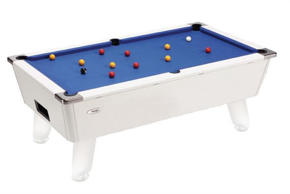 Omega Pool Table: White - 6ft, 7ft