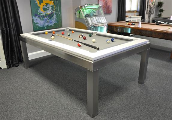Billiards Carrinho New York 7.2ft Lacquered White Pool Table - Showroom Clearance