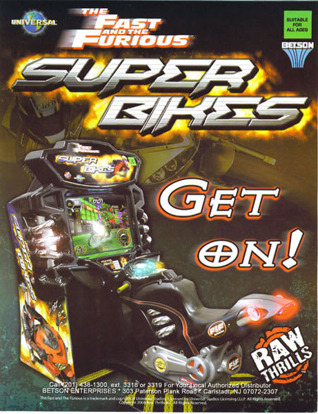 The Fast and the Furious Superbikes Flyer